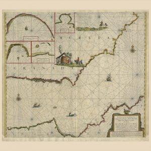 Carta naútica del Zee-fakkel, dedicada al mar mediterraneo