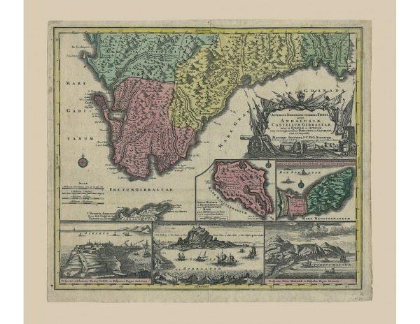 Escenificación de la guerra de sucesión Española 91701-1713)