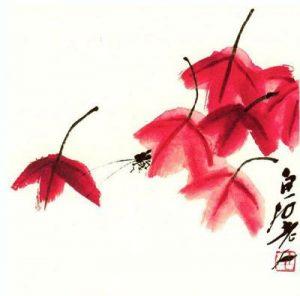 Grillo entre hojas de otoño para milartienda.com