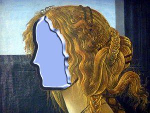Detalle Botticelli, sin cara para milartienda.com