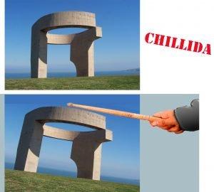 Jugnado con Chillida para el blog de mlartienda.com