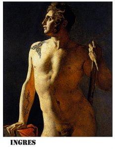 Torso masculino de Ingres para milartienda.com