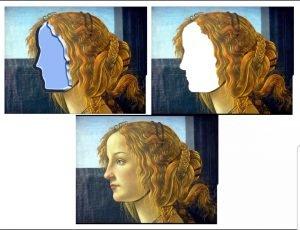 Detalle del retrato de una joven de Botticelli para milartienda.com