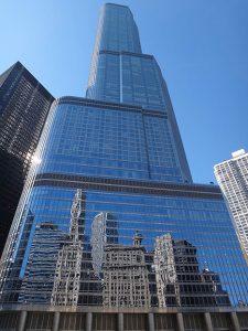 Chicago building mirror