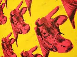 Papel de empapelar con vacas de Warhol para milartienda.com