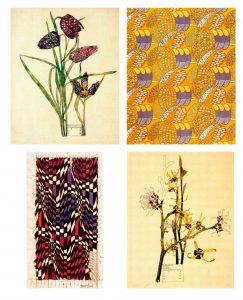 textiles y flores de Mackintosh para milartienda.com