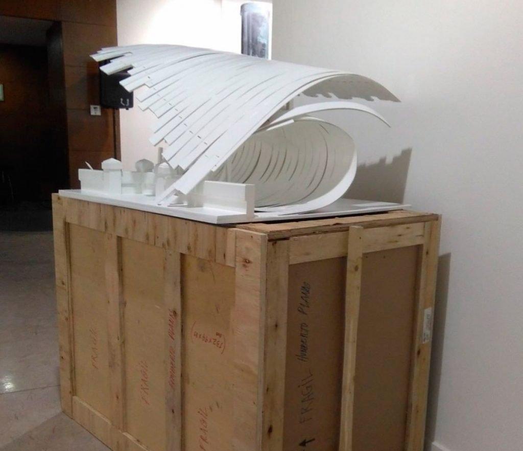 Proyecto encofrado para una ola, escultura de madera de Humberto Planas para milartienda.com