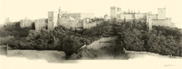 Dibujo Alhambra Antonio Conde para milartienda.com