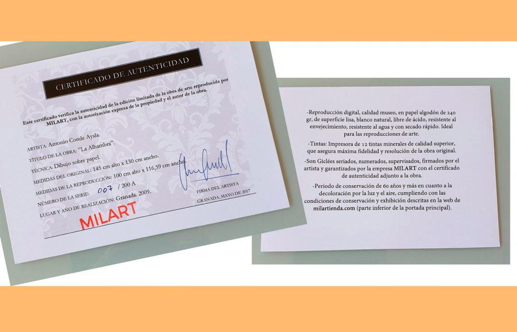 Certificado de milartienda.com
