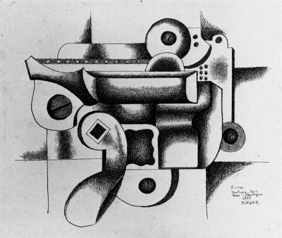 Dibujo de Leger en el Pompidou para blog de milartienda.com