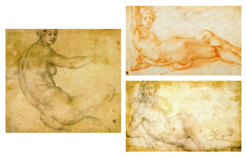 Dibujos de Pontormo en la Galería Uffizi para blog de milartienda.com