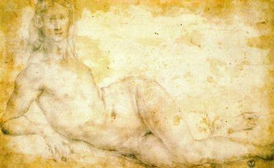 Dibujo de Pontormo de la Galería Uffizi para blog de milartienda.com