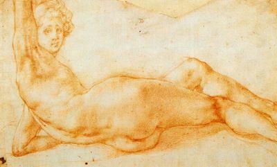 Pontormo, dibujo de la Galería Uffizi para blog de milartienda.com
