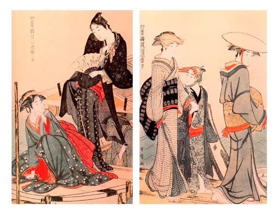 Díptico de Utamaro en el British Museum para milartienda.com