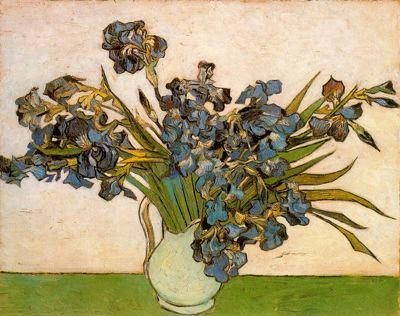 Jarrón con lirios de Van Gogh en el Museo Van Gogh para blog de milartienda.com